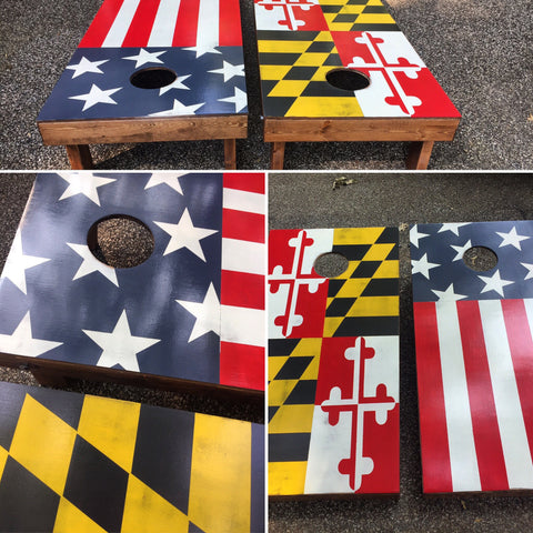 Flag Corn hole set *Sale and Holiday Ordering*