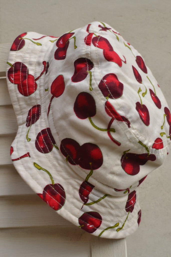 Red Cherry Cotton Sun Hat