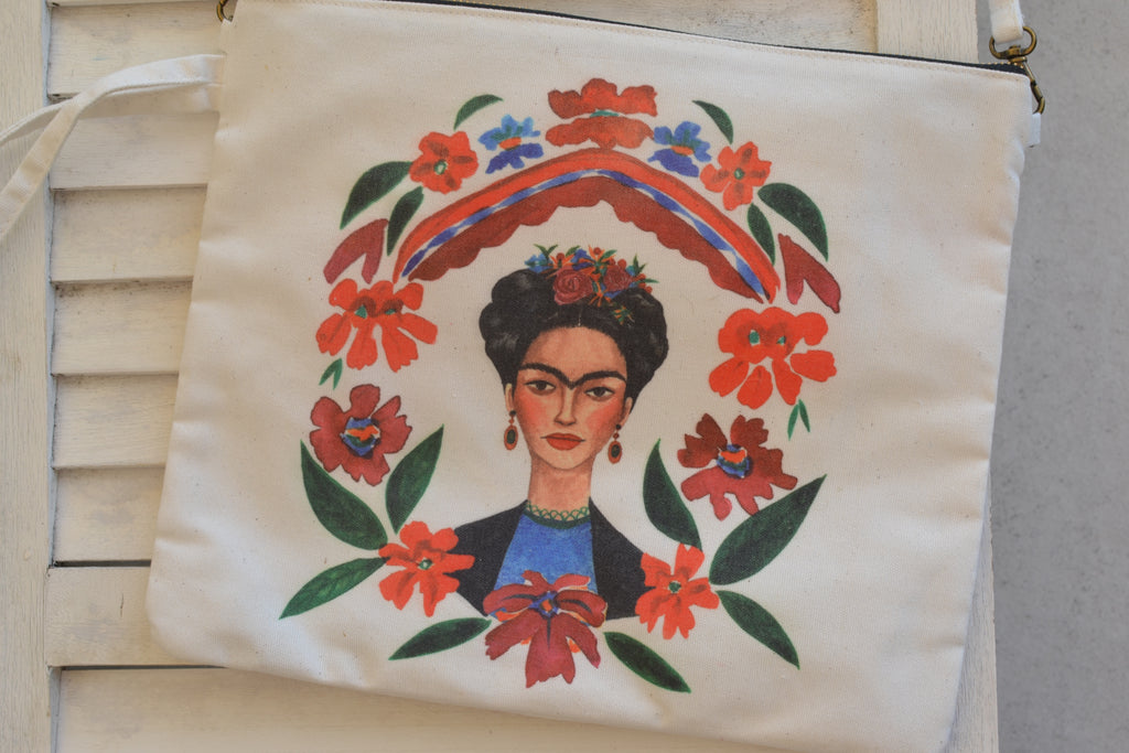 Regal Kahlo Canvas Clutch Bag