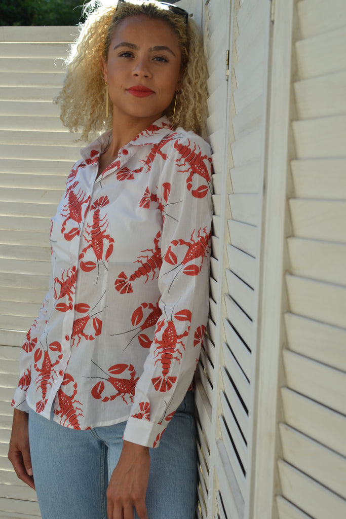 Fitted Lobster Shirt