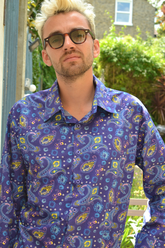 Purple paisley space shirt!