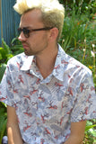 Flamingo & leaf short sleeve shirt