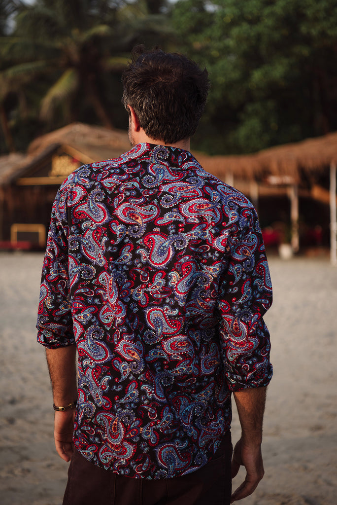 Black Paisley men's shirt.