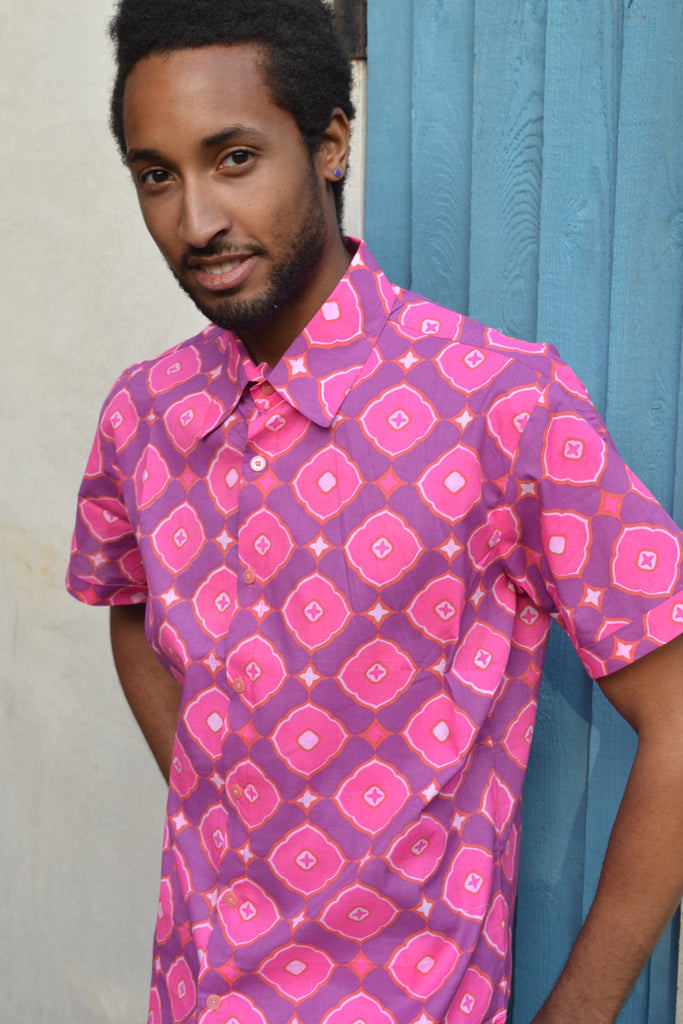 Pink retro short sleeve