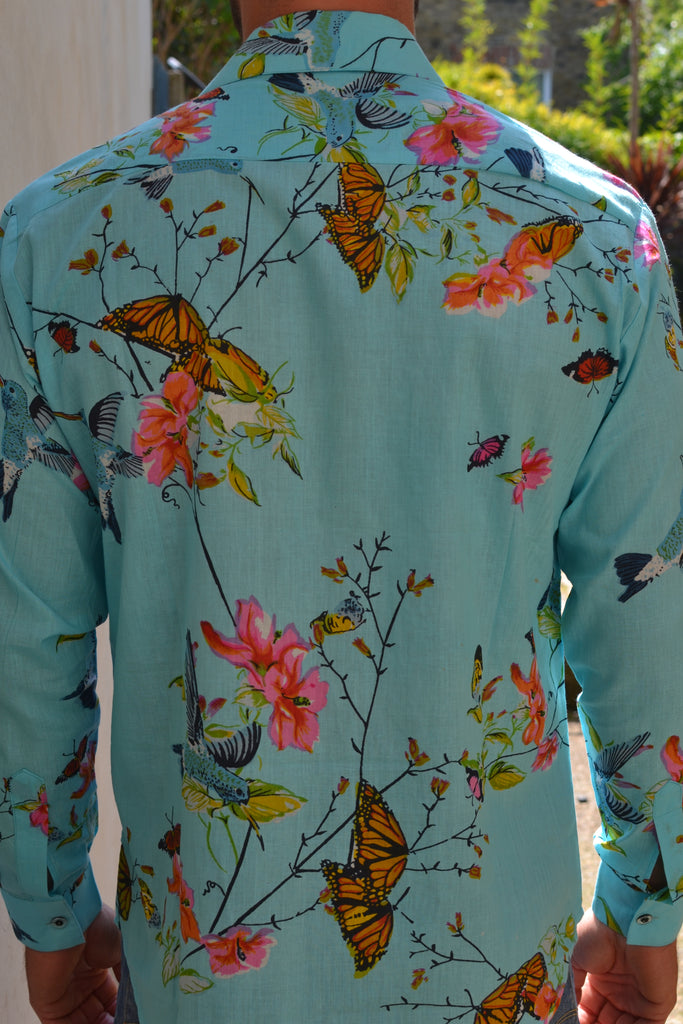 Beautiful blue hummingbird nature shirt.