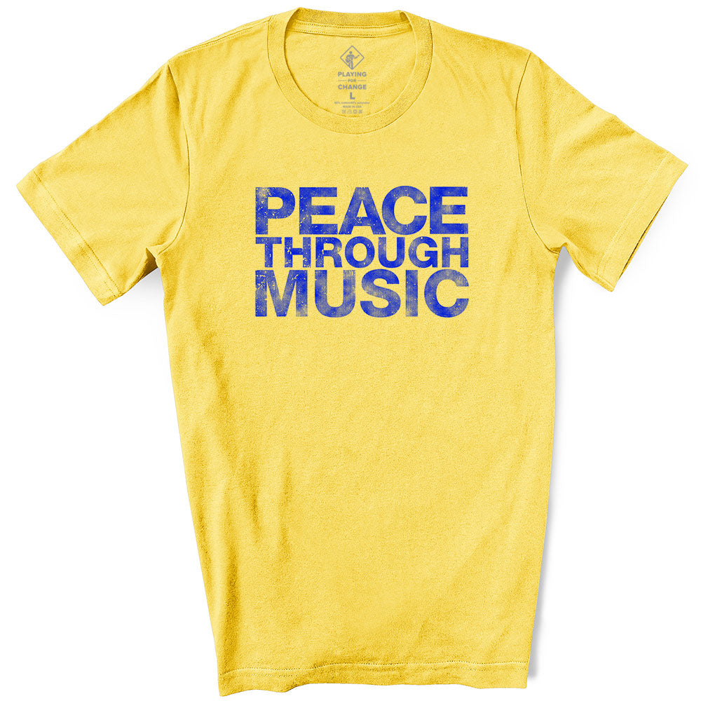 Peace Through Music Maize T-Shirt (unisex)