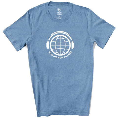 PFC Headphones Heather Slate T-Shirt (unisex)