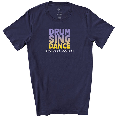 Drum Sing Dance Navy T-shirt (unisex)
