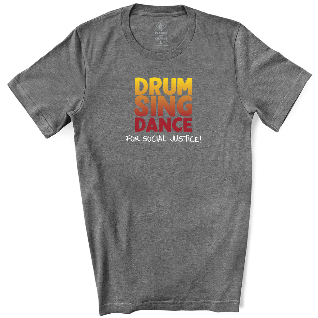 Drum Sing Dance Deep Heather T-Shirt (unisex)