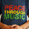 Organic Men's Peace Through Music T-Shirt