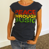 Organic Women's Peace Through Music round neck T-Shirt