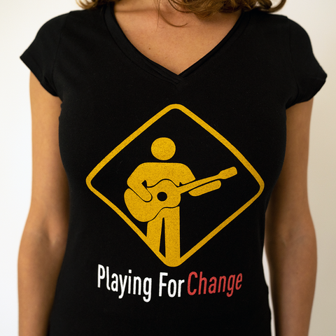 Organic Women's Playing For Change With Logo T-Shirt