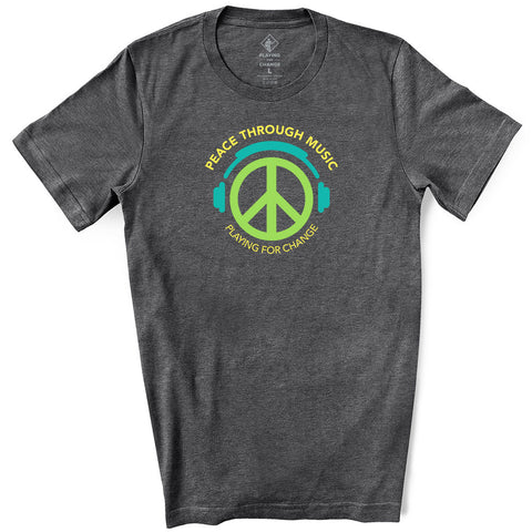 Peace Symbol Dark Grey Heather T-Shirt (unisex)