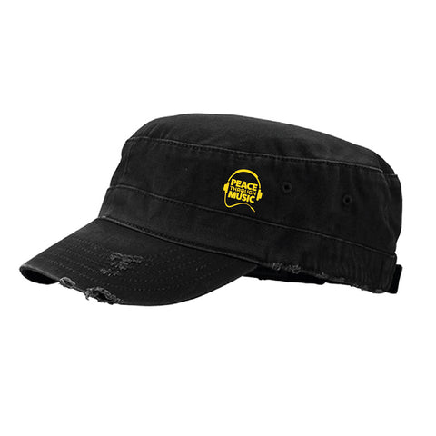Peace Through Music Army Cap (Grey | Black)