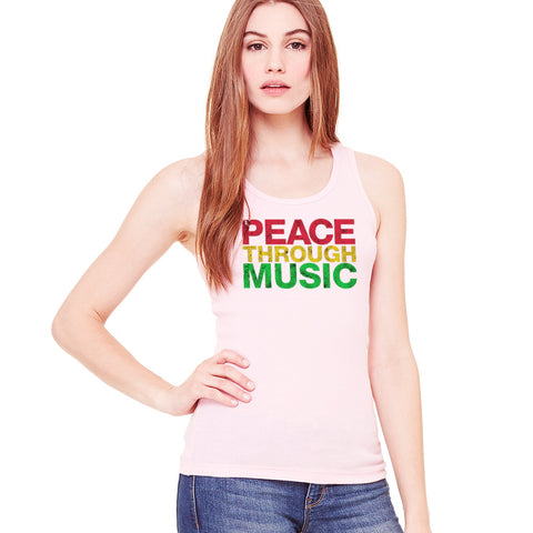 Peace Through Music Pink Tank