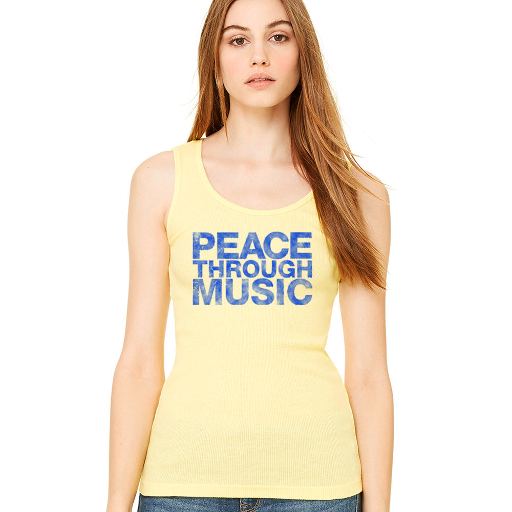 Peace Through Music Yellow Tank