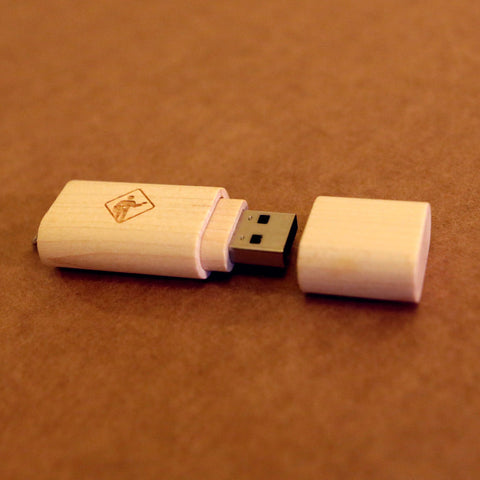 Eco Friendly USB Drive 16 GB (preloaded with PFC music & videos)