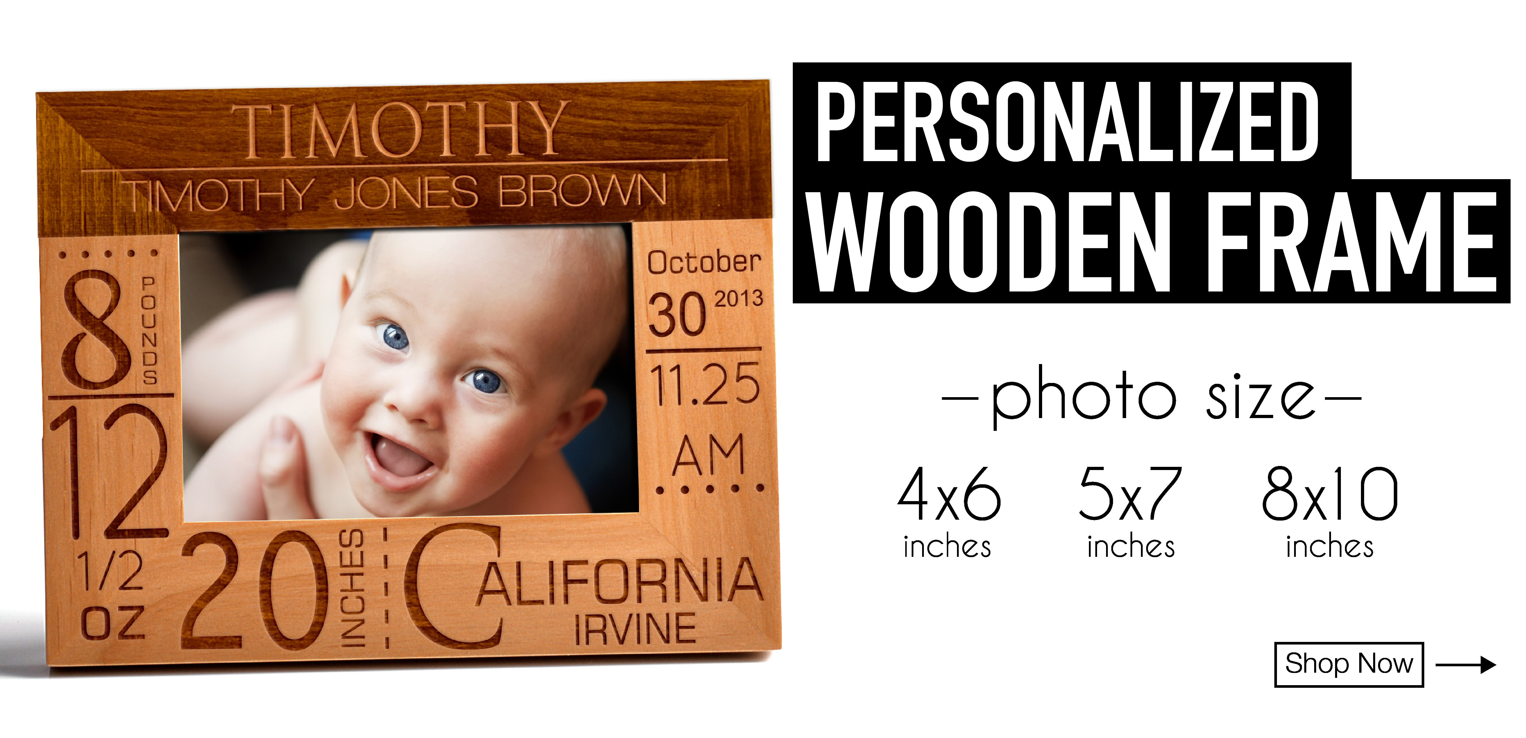 Personalized Wooden Photo Frame Best Gift For Christmas