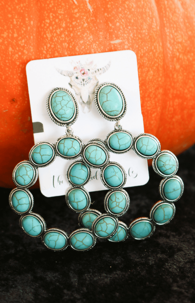 Round About Turquoise Earring | The Frosted Cowgirls
