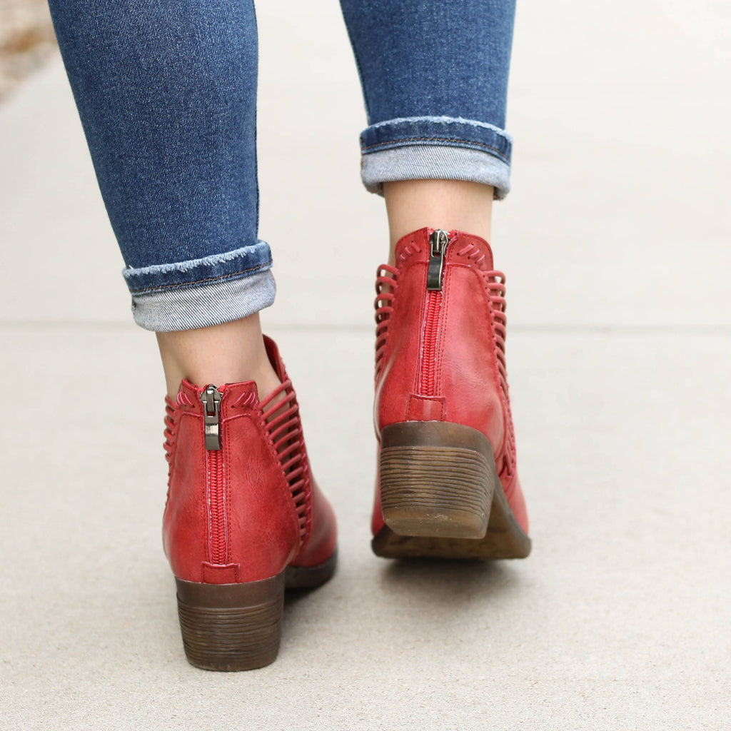 Corky's Joilet Bootie in Red