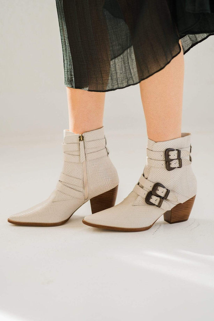 Matisse Harvey Multi Strap Boot in White