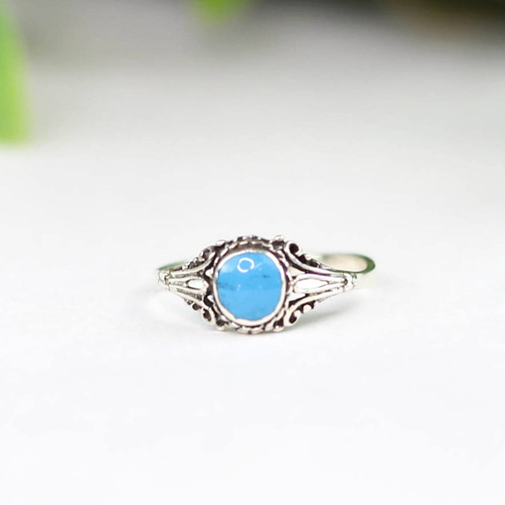 Deep Blue Turquoise Stacker Ring - Rural Haze