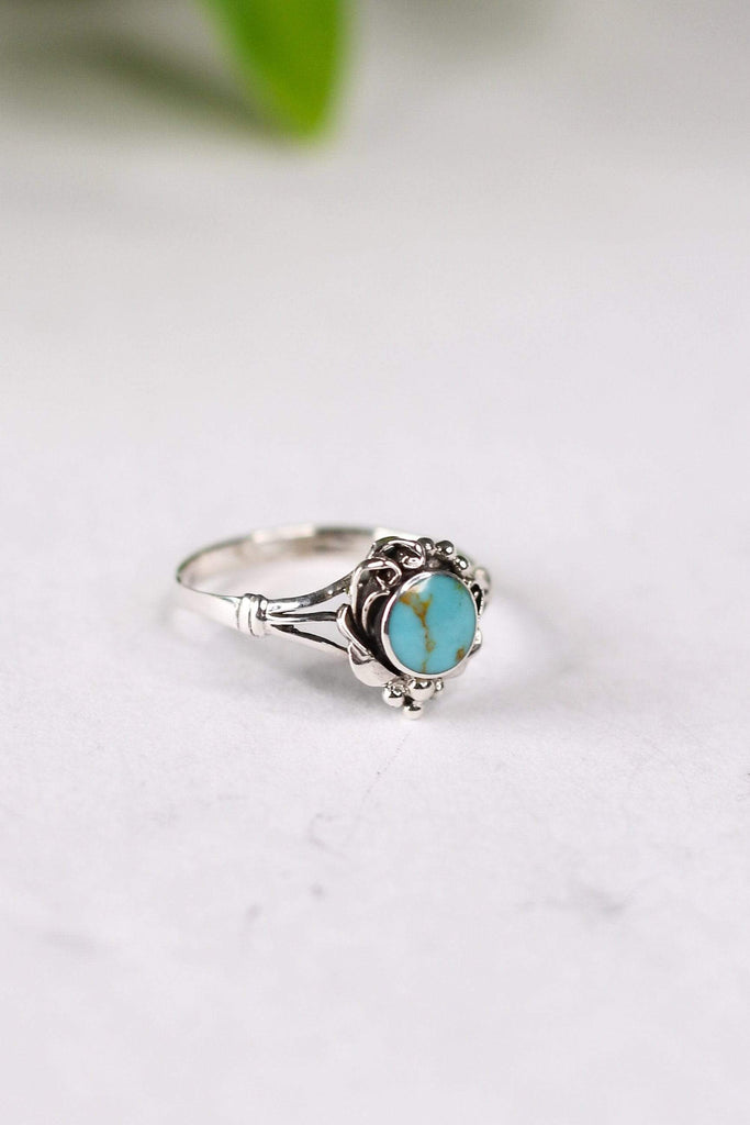 Marbled Turquoise Stacker Ring