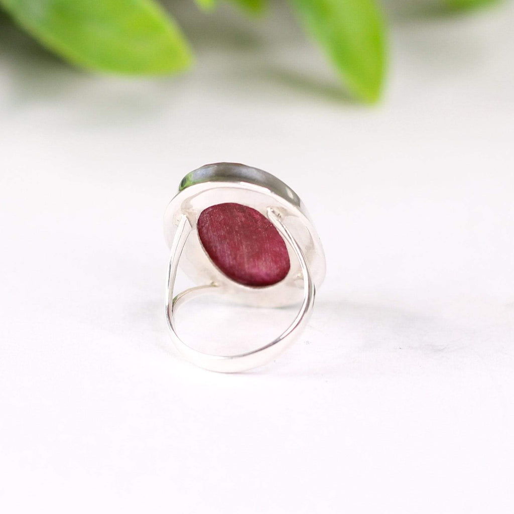 Multifaceted Ruby Ring
