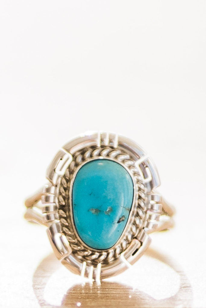 Dave Skeets Sleeping Beauty Turquoise Ring
