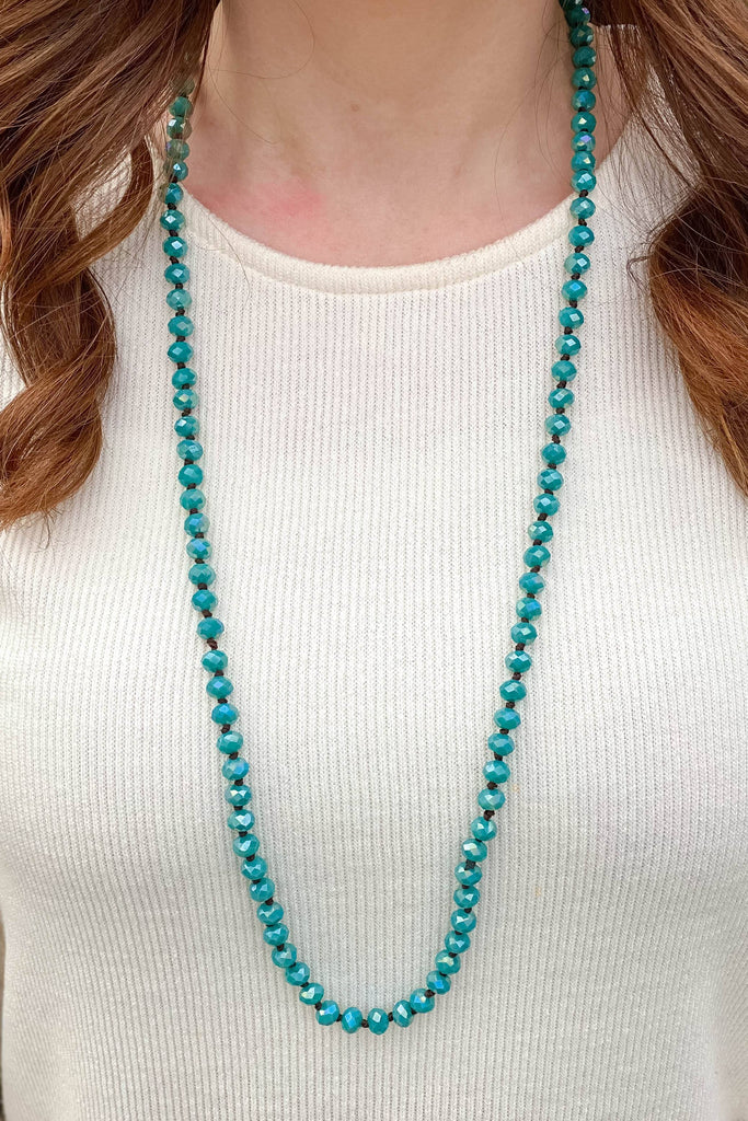 Deep Turquiose Beaded Necklace