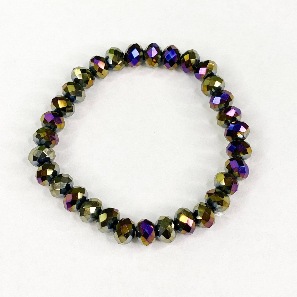 Oil Spill Beaded Bracelet