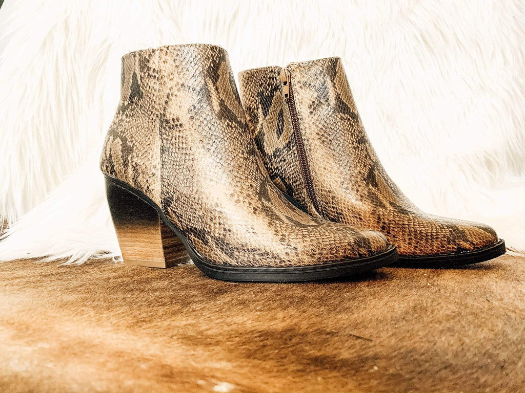 Two-tone Snake Booties