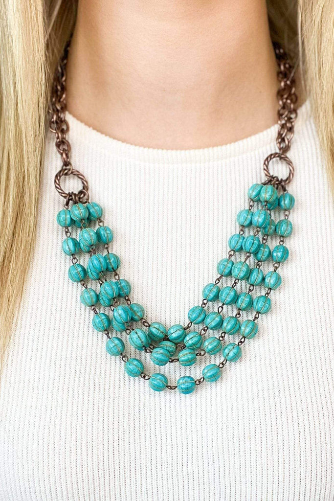 West & Co Four Strand Turquoise Necklace