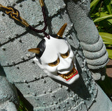 Hannya Mask Pendant Necklace