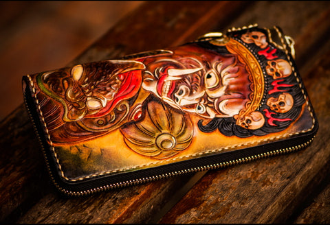 Black Sky God Leather Wallet