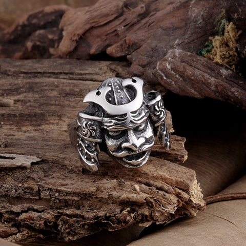 Samurai Warrior Stainless Steel Ring
