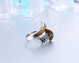 Samurai Sword Gold Dragon Ring