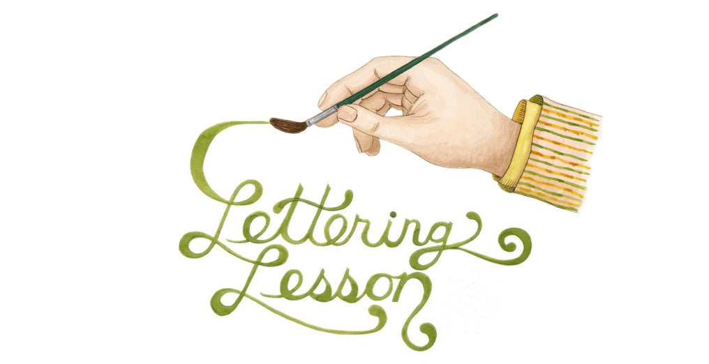 Watercolor Lettering Lesson