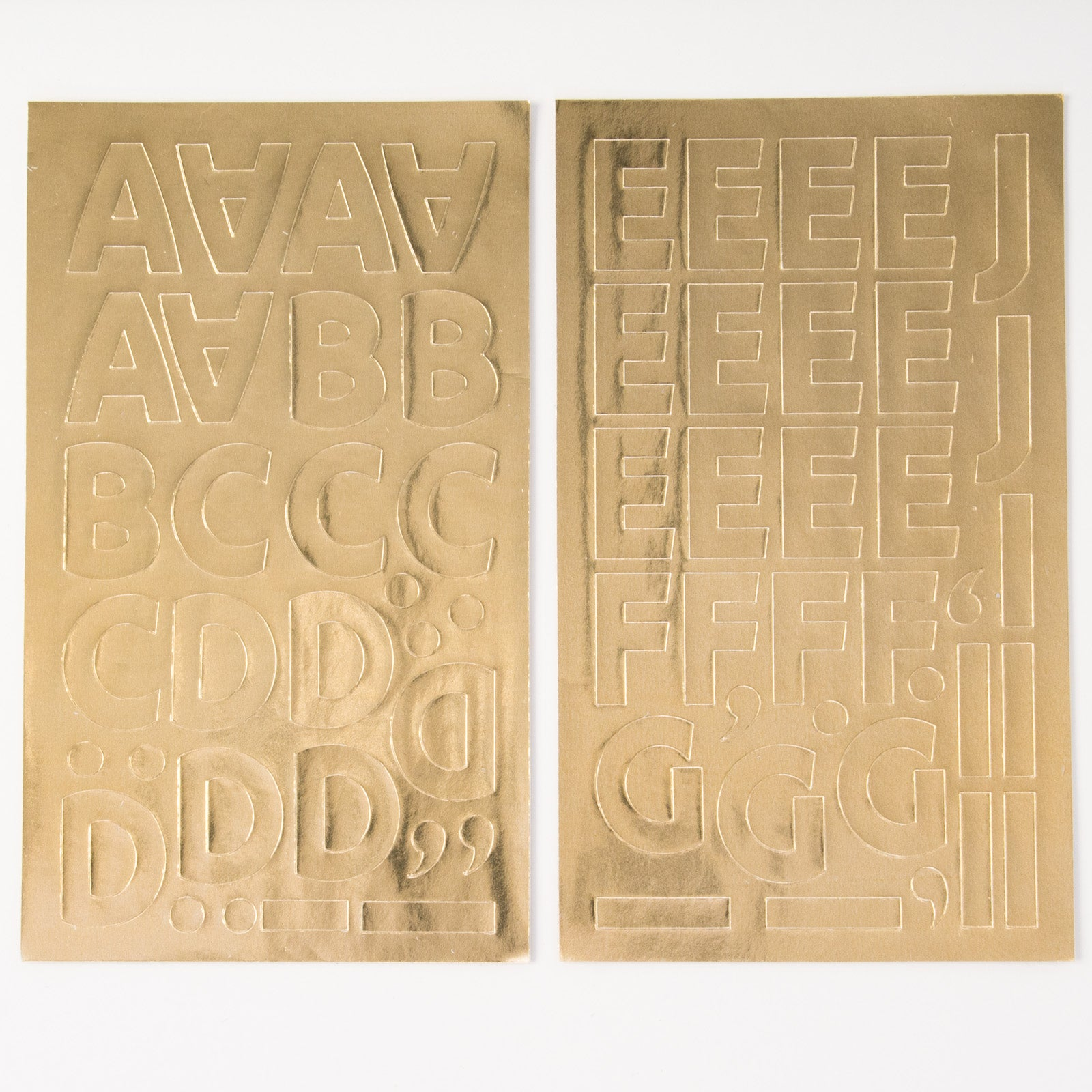 1980s Gold Alphabet Stickers
