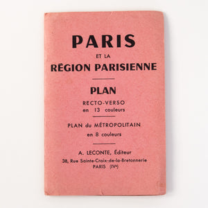 Vintage Pull Out Map of Paris