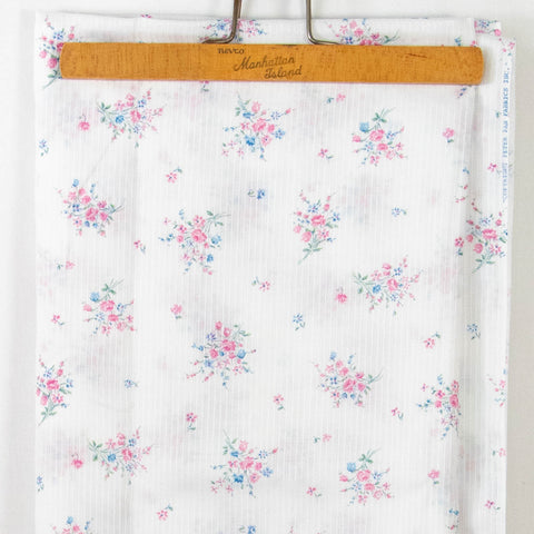 Vintage Rose Fabric Semi-Sheer Striped