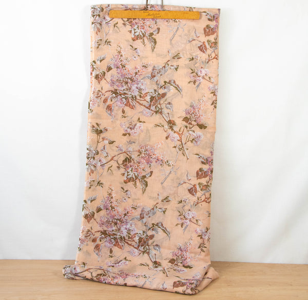 Vintage Floral Fabric Cotton Voile [3 Yds+3 In]