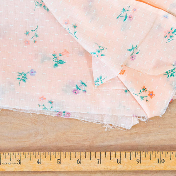 Vintage Flocked Fabric at Twine and Quill