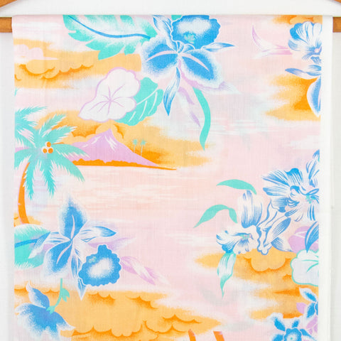 Vintage Hawaiian Print Fabric [1.75Yds]