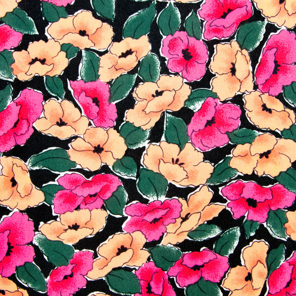 Vintage Silky Floral Fabric