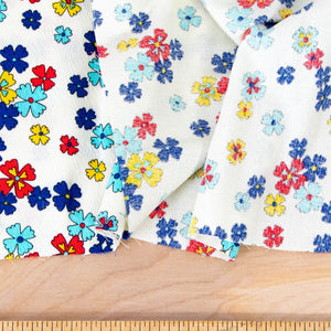 Floral Light Weight Barkcloth Vintage Fabric [2 Pieces Available]