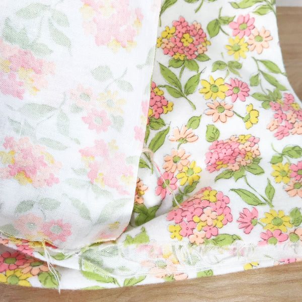 Floral Flannel Vintage Fabric [4 Yds]