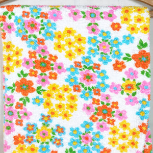 Floral Terry Cloth Vintage Fabric [1.75+Yds]