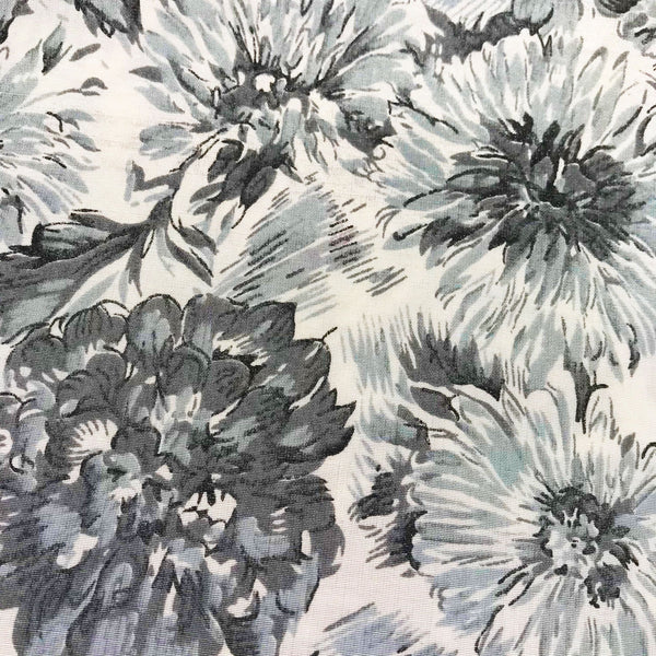 Mid Century Floral Fabric [3.75+Yds]