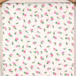 Mid Century Cotton Rose Fabric [4.75+ Yds]